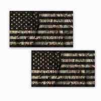 "Camo American Flag Hard Hat Stickers Helmet Decals Oak Ambush 2 Pack  4"" wide"