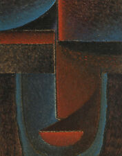 Jawlensky Von Alexej Abstract Head Blue And Red Canvas 16 x 20  #3034