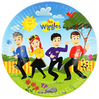 """THE WIGGLES 9""""/23CM PAPER PLATES PACK OF 8 BIRTHDAY PARTY SUPPLIES"""