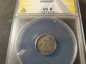 NICE 1803 draped bust half cent ANCS vg 8 Details
