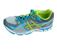 Asics Gel GT-3000 Women's Running Athletic Shoes Size 6.5 Blue gray Lime green