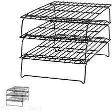 Cooling Racks For Baking Cookie Bakery Wire Stackable Cake Food Kitchen 3 Tier