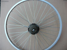 "WHEEL 26"" Alloy Rear Bicycle Wheel MTB ATB Mountian bike & 7 Speed shimano gears"