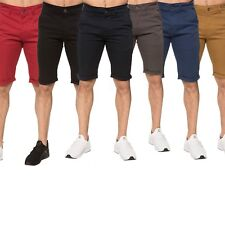 Mens Enzo Summer Chino Shorts Stretched Fabric Cotton Folded Bottom Size 28 - 48
