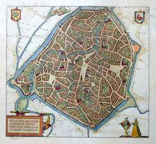 NORD FRANKREICH VALENCIENNES VALENCENA BRAUN HOGENBERG KOLORIERT WAPPEN 1581