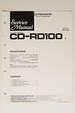Pioneer cd-rd100 original RCA to din adaptor Service-Manual/esquema eléctrico o63