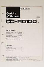 PIONEER CD-RD100 Original RCA To DIN Adaptor Service-Manual/Schaltplan o63