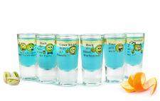 6 Schnapsgläser Tequilagläser mit Sprüchen Schnaps Shots Stamper Wodkagläser