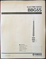 Yamaha BBG5S 5 String Electric Bass Guitar Service Manual and Parts List Booklet