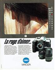 Publicité Advertising 038  1981   Minolta appareil photo boitier reflex XGM