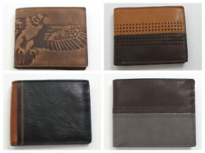 Fossil Men's Bifold Leather Wallet Cody Brown, Eagle Brown, Jerome Black, Norton