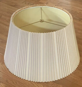 """Vintage X-Large STIFFEL PLEATED ACCORDION LAMP SHADE 18 3/4"""" X 10 3/4"""" Excellent"""