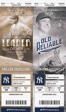 2015 NEW YORK YANKEES VS TEXAS RANGERS Ticket Stub 5/24/15 BERNIE WILLIAMS DAY
