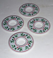 4 Colonial Candle of Cape Cod Holly Ridge Porcelain Candle Drip Bobeches