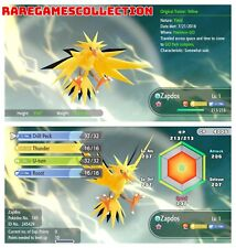 Pokemon Let's Go Pikachu & Eevee ✨ SHINY ✨ 6 IVs 1 LEVEL ZAPDOS FAST DELIVERY