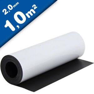 Foglio magnetico bianco opaco 2mm x 1m x 1m