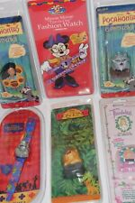 Lot 6~Sealed Vintage 90's Nos~Disney Watches Minnie Mouse~Hunch Back~Lion King+
