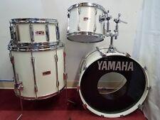 "Vintage Yamaha Recording Custom White 4 Piece Drum Kit Snare 14"" 18"" 22"" Japan"