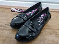 US Brass Girls School Shoes Black Uk Size 3 Ex Displayed No Box New