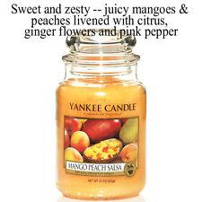 Peony Yankee Candle 2018 Fragrances 22oz Glass Jar 623g Mango Peach Salsa