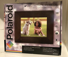 "8"" Digital Picture Frame NEW IN BOX Polaroid Candlenut Distressed Wood PDF-800CD"