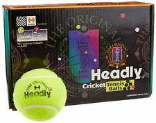 Headly Heavy Cricket Tennis Ball, (Yellow) Pack of 6 Freeshipping