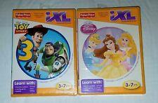 2 Fisher Price iXL Games-Disney Princess & Disney Pixar Toy Story 3-Brand New