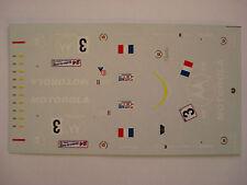 DECALS KIT 1/43 CADILLAC LMP NORTHSTAR N. 3 TEAM DAMS LE MANS 2000