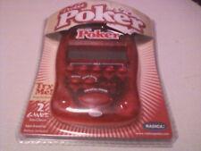 Brand New & Sealed RADICA Pocket Poker/Draw & Deuces--Model 75005