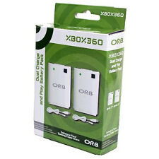 BRAND NEW GENUINE ORB DUAL CHARGE AND PLAY BATTERY PACK FOR XBOX 360 020402