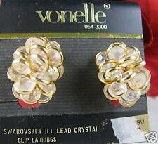 Vintage Vonelle Swaroski Crystal Earrings CAT RESCUE
