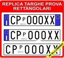 REPLICA COPPIA TARGHE PROVA SUPPLEMENTARI IN ALLUMINIO RETTANGOLARI PER AUTO top