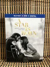 A Star Is Born (2-Disc Blu-ray/DVD, 2019)+Slipcover.Lady Gaga/Bradley Cooper.