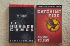 Suzanne Collins Book ARC Set - Hunger Games & Catching Fire - Advance Reader
