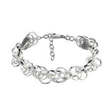 Bracciali di metalli preziosi senza pietre maglie in argento