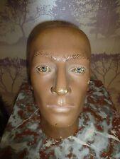 VINTAGE PLASTER MALE MANNEQUIN HEAD