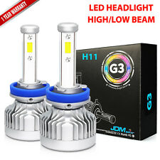 JDM ASTAR G3 8000LM 2x H11LL/H11 LED High/Low Beam Headlight Bulbs White Fog Kit