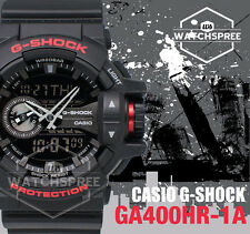 Casio G-Shock Black & Red Special Color Model Watch GA400HR-1A AU FAST & FREE