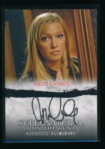 KATIE CASSIDY AUTO 2014 Cryptozoic SUPERNATURAL Seasons 1-3 Autograph ULTRA RARE