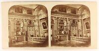 Versailles Habitación A Dormir De Louis XIV Foto Estéreo Pl Vintage Albúmina