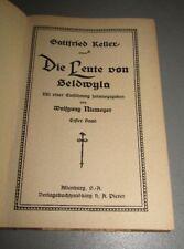Gottfried KELLER (1819- 1890) Die Leute von Seldwyla 1. und 2. Band   um 1925
