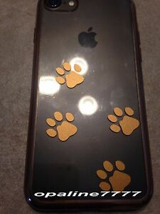 Decal Sticker Paws Cat Dog Decoration Phone Portable Case Cover