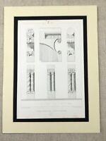 1857 Architektonisch Aufdruck Ratzeburg Kathedrale Deutschland Antik Gravierung