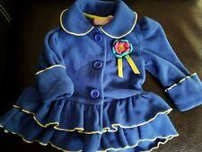 Girls Kids Headquarters Royal Blue Fleece Jacket Coat Size 12 months Flower