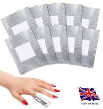Nail Gel Foil Polish Wraps Remover Soak Off Pads Sachets, Non Acetone, UK Stock