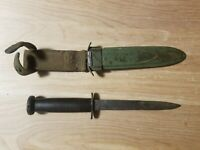 WWII USM3 US Fighting Knife Trench Steel Blade Scabbard with the Hooks Rare