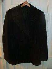 Vintage Genuine Ww2 Navy Pea Coat 8 Button Corduroy Pockets Size 42