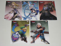 Zelda Hyrule Warriors Wii U Treasure Box Pre Order Postcards Chest Set Art Cards