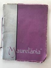Cunard RMS Mauritania 7/38 Launch Booklet