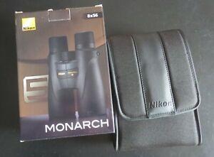 Nikon Monarch 5 8x56 binoculars, unused, case, box and paperwork, *MRSP £629.00*